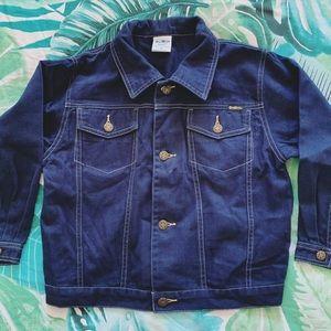 Osh Kosh Navy Blue Denim Jacket Kids Size 6